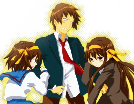 La lucha entre Haruhi y su gemela mposeida por Kadokawa...
